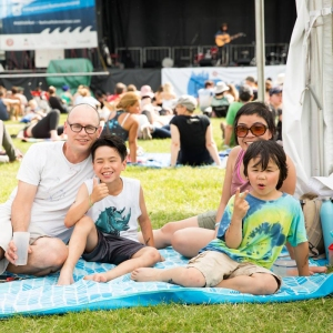 Family at Montreal Folk Fest