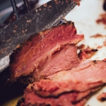 Slicing Smoked Meat at Snowdon Deli