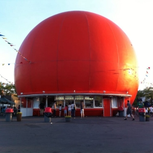 Large Orange Ball - Orange Julep building in Montreal
