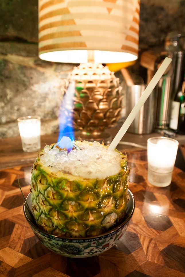 Drink In A Pineapple at La Mal Necessaire